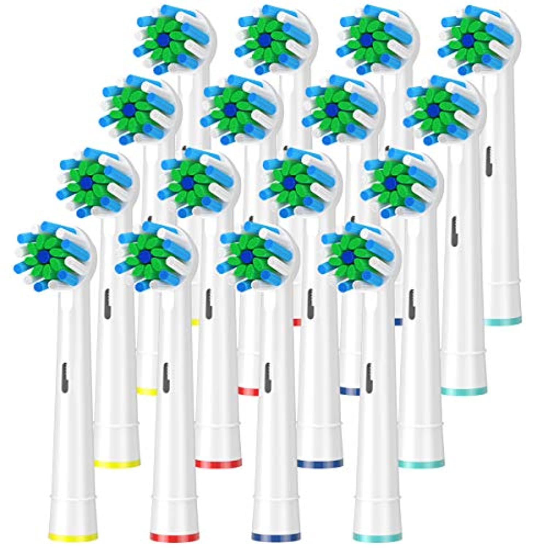 相反するを通してカウンタITECHNIK ブラウン 電動歯ブラシ 対応 替えブラシ ブラウン オーラルB 替えブラシ Action cross(16)