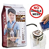 MezzoX Premium Authentic Thai Coffee 9.9oz (5 Servings) Super Easy DIY Set: Incl. Ground Coffee, Special Milk Powder, No Special Equipment, Ingredients Needed. Product of Thailand