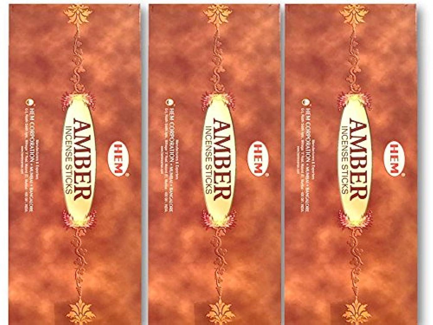 オートマトンバルセロナ兵士HEM(ヘム) スティックお香/六角香/ヘキサパック(18箱)3ケースセット (アンバー)