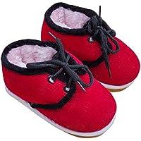 赤ちゃんの手作りの綿の靴激しい冬の絆幼児靴 - 赤