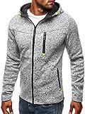 LACOSTE セーター ホット販売、aimtoppyメンズスポーツジッパーセーターカシミアカーディガンフード付きジャケット M ブラック AIMTOPPY