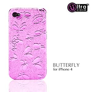 iPhone4用ケース Ultra Case BUTTERFLY ピンク