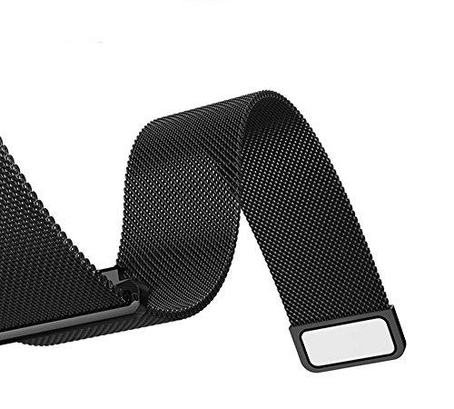 TopACE Galaxy Gear S3 Frontier / Galaxy Gear S3 Classic 時計バンド ステンレス製 交換ベルト 時計ベルト(ブラック)
