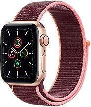 最新 Apple Watch SE(GPS + Cellularモデル)- 40mmゴールドアルミニウムケースとプラムスポーツループ
