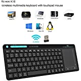 Rii K18 Wireless Keyboard With build-in Large Size Touchpad Mouse Rechargable Li-ion battery For PCGoogle Smart TVKODIRaspberry Pi2/3 HTPC IPTVAndroid BoxXBMCWindows 2000 XP Vista 8 10