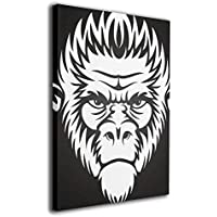 絵画 装飾絵画 アートパネル インテリア絵画 猿の顔 ポスター ウォールアート 壁掛け 部屋 装飾 壁絵 アート おしゃれ フレームレス装飾 額縁なし