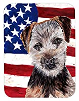 Caroline's Treasures Norfolk Terrier Puppy with American Flag USA Mouse Pad/Hot Pad/Trivet (SC9639MP) [並行輸入品]