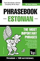 English-Estonian phrasebook & 1500-word dictionary