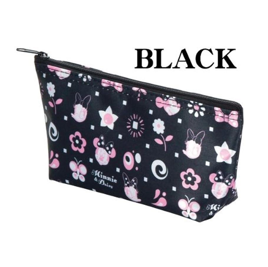 リングレット飾り羽加速度Disney(ディズニー) スイートキャラクターポーチ(ピンク?ブラック) (ブラック)