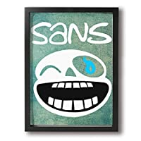Undertale Gorillaz Wall Art Decor Poster Artworks Paintings Prints On Canvas Framed Ready To Hang For Living Room Bedroom Home Interior Decorations 12x16Inch