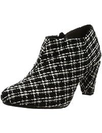 [ヌーベルヴォーグリラックス] ブーツ パールコーンヒールブーティー 97-1734