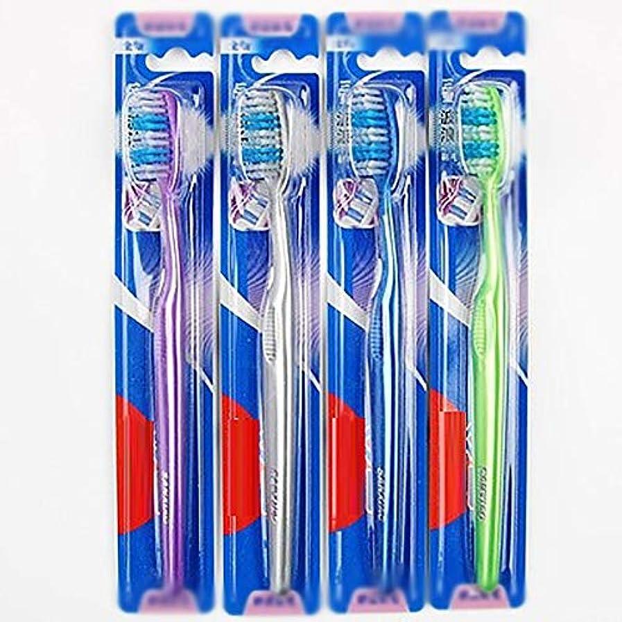未使用サンドイッチベンチャー歯ブラシ 30歯ブラシ、快適な柔らかい歯ブラシ、大人歯ブラシ - 使用可能なスタイルの2種類 KHL (色 : B, サイズ : 30 packs)