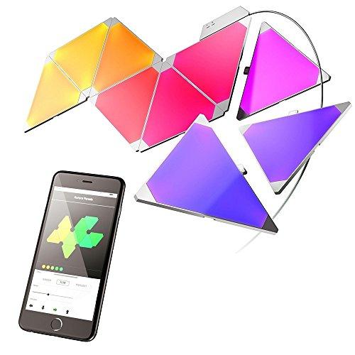 RoomClip商品情報 - Nanoleaf Aurora Starter Kit 9 Pack JP スマート・インテリアLEDパネル LE0058 NL22-0006TW-9PK/JP