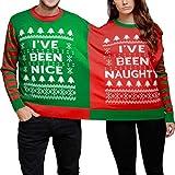 メンズ ワークパンツ パーマンクリスマスNaughty and Nice Women and Man LoversツインTwosieスウェットシャツ X-Large 71112001
