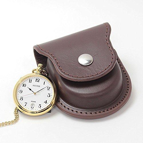 [해외][세이코 알바] 세이코 알바 (SEIKO ALBA) 회중 시계 AABU004과 正美堂 원래 가죽 케이스 (브라운) 세트/[Seiko Alba] Seiko Alba (SEIKO ALBA) Pocket Watch AABU 004 and Masamido Original Leather Case (Brown) Set