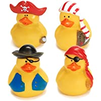 Fun Express 12 Mini Pirate Rubber Ducks Duckie Ducky Party Favors Novelty (1 Dozen) [並行輸入品]