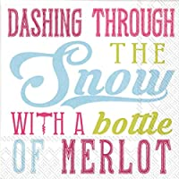 (COCKTAIL NAPKINS, Snow Merlot) - Ideal Home Range Ply COCKTAIL NAPKINS Snow Merlot