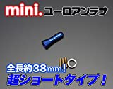 ユニカー工業 超ミニアンテナ(BL)(38ミリ)フィット 01/6~04/6