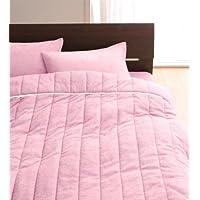 フレンチピンク キルトケット&パッド一体型ボックスシーツ クイーン 20色から選べる!365日気持ちいい!コットンタオル【????????品】