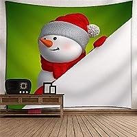 クリスマスの雪だるまタペストリー壁掛け壁画の壁の壁の3Dデジタル印刷ポリエステルアート壁の装飾家の吊り布のベッドルームリビングルームのタペストリー壁のマウントピクニックブランケット (Color : 033)