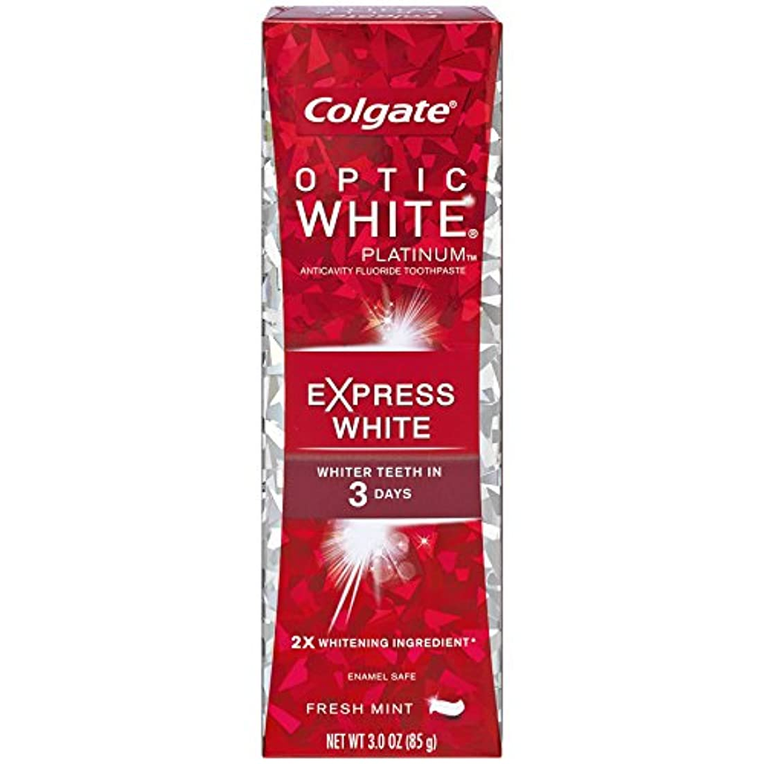 戦闘ギャザー火山学コルゲート 歯みがき粉 オプティック ホワイト 3Days エクスプレス ホワイト