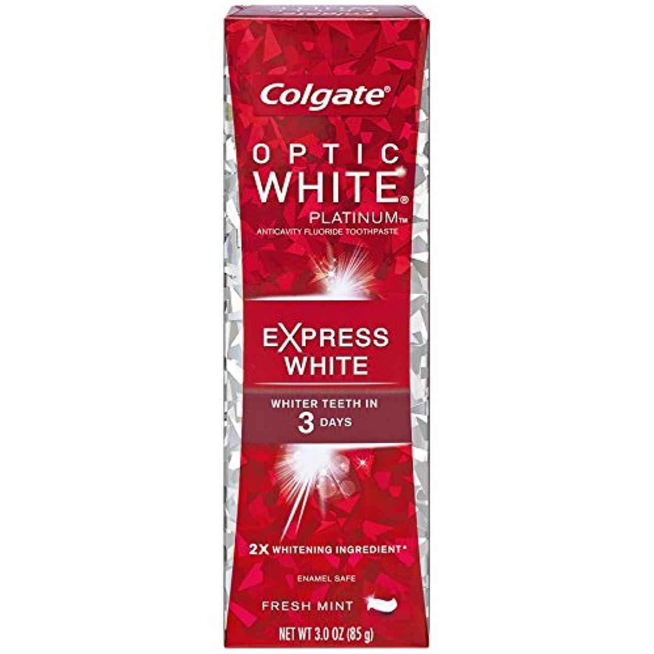 目に見えるシャトル酸っぱいコルゲート 歯みがき粉 オプティック ホワイト 3Days エクスプレス ホワイト