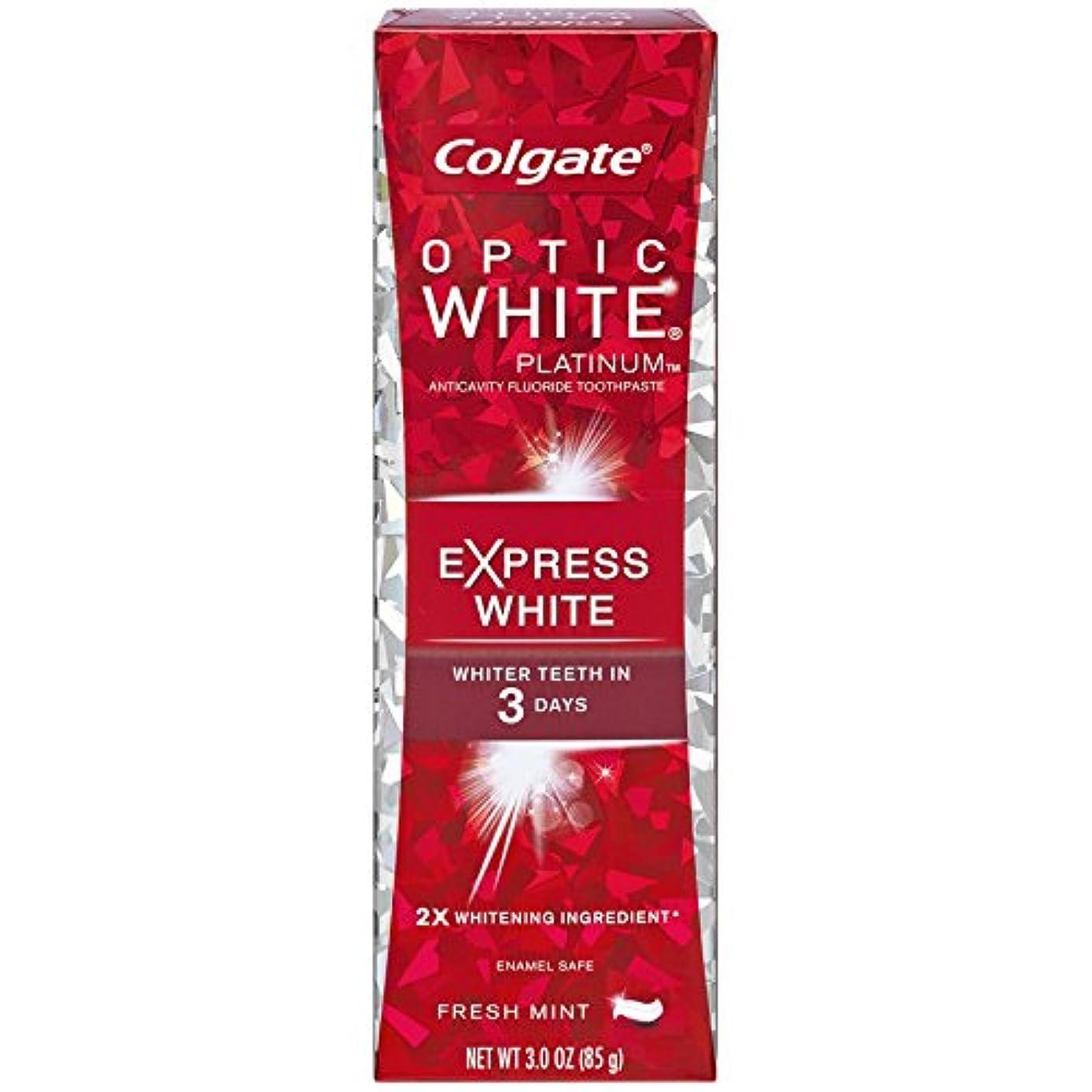 固有の後方に作動するコルゲート 歯みがき粉 オプティック ホワイト 3Days エクスプレス ホワイト