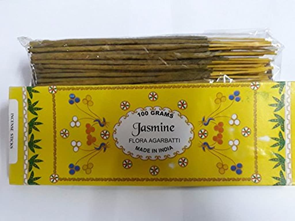 メンダシティ崩壊こねるJasmine/ジャスミン Agarbatti Incense Sticks 線香 100 grams Flora Incense フローラの香 Agarbatti