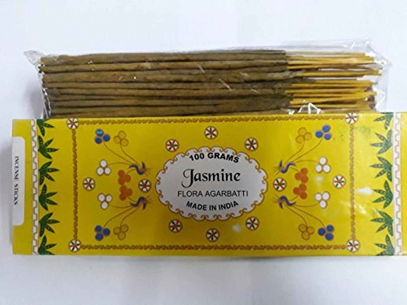 はちみつ統合肉屋Jasmine/ジャスミン Agarbatti Incense Sticks 線香 100 grams Flora Incense フローラの香 Agarbatti