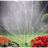 Yard Sprinkler, 360° Rotating Lawn Sprinkler with Up to 3,000 Sq. Ft Coverage - Adjustable, Weighted Gardening Watering Syste