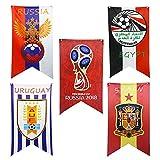 Liebeye 国旗 つり下げ 壁装飾 サッカー ワールドカップ 旗 バナー デコレーション 70*125CM