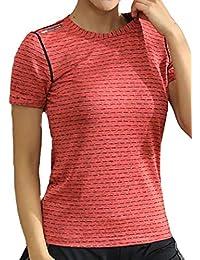 [ジェームズ?スクエア] レディース ドライ ストレッチ Tシャツ スポーツ トレーニング シャツ 半袖