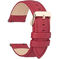 6 Colors for Quick Release Leather Watch Band, Fullmosa Cross Genuine Leather Replacement Wrist Strap for Men & Women 18mm 20mm 22mm 24mm