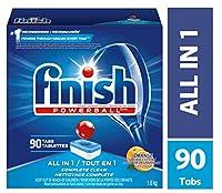 食器洗い機用洗剤、オールインワンパワーボール、オレンジ、90錠、ファストアクションクリーン