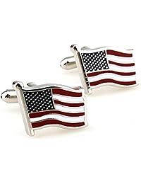 アメリカ国旗Wavingカフスボタンフォーマル行事バレンタインの日Present Gift for Mens