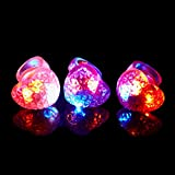 (iSmile)光る指輪おもちゃピカピカクリスマスハロウィンパーティーに大活躍ハート8個入り