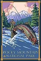 ロッキーマウンテン国立公園–Fisherman 12 x 18 Art Print LANT-20188-12x18
