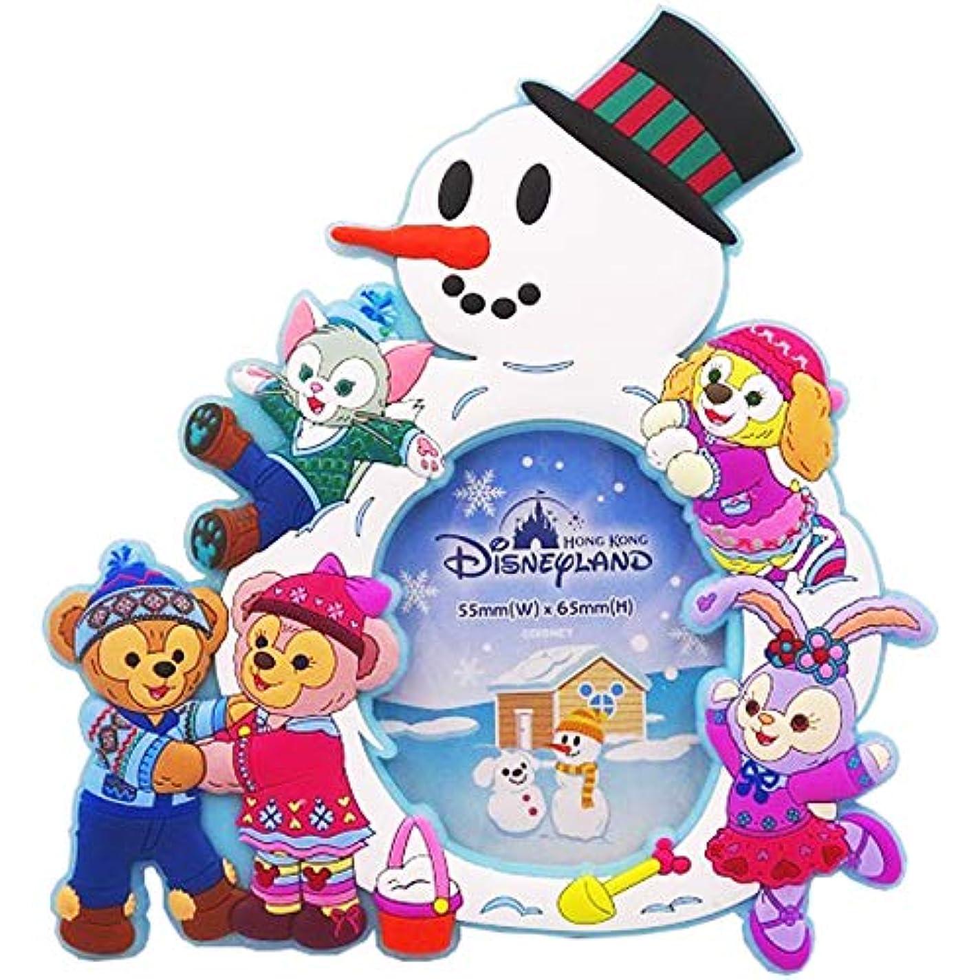 季節ウミウシ反論者《即日発送》【ディズニー】 Disney ダッフィー シェリーメイ ジェラトーニ ステラ?ルー クッキー フォトフレーム 写真立て 雪だるま 香港 HKDL 海外ディズニー限定