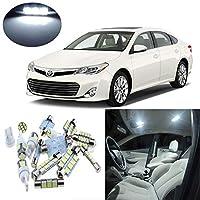 FidgetGear トヨタアバロン2013-2014年10個入りホワイトインテリアLEDライトパッケージキット