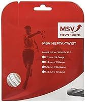 藤色スポーツ–MSV Hepta Twist 125ホワイトテニス文字列–(msvheptawh125:セット)