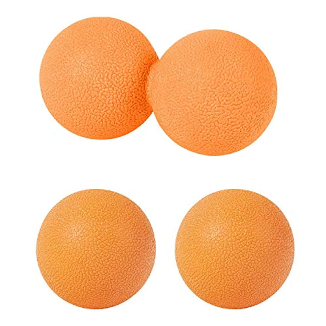 回復するなめらかディンカルビルsac taske マッサージボール ストレッチ ピーナッツ ツボ押し トリガーポイント 3個セット (オレンジ)