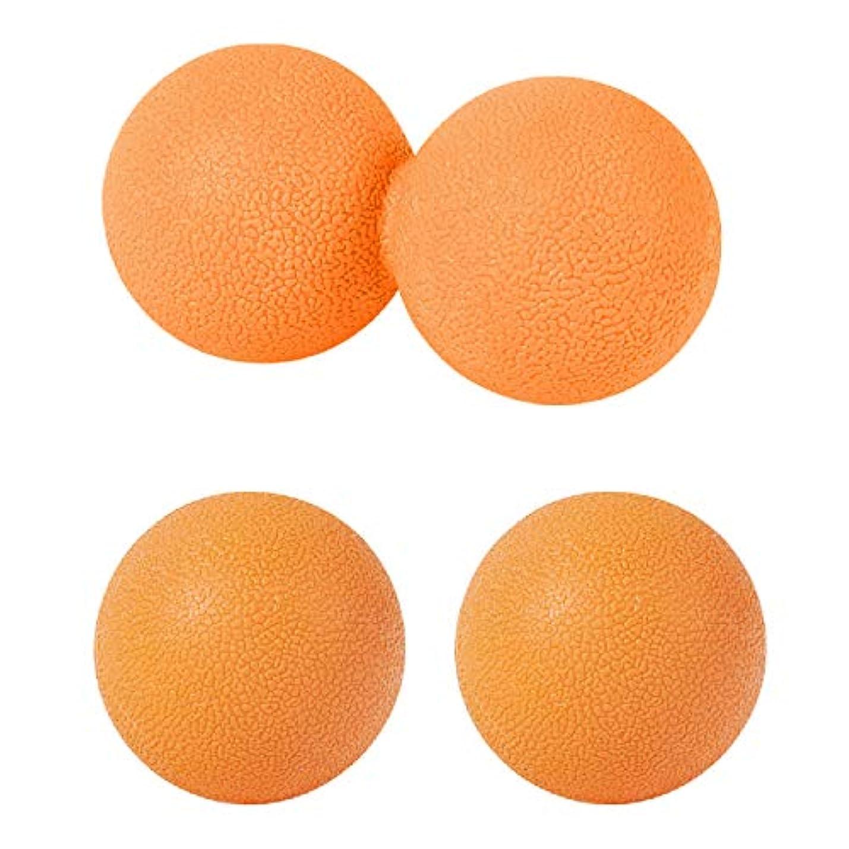 概念ウール肩をすくめるsac taske マッサージボール ストレッチ ピーナッツ ツボ押し トリガーポイント 3個セット (オレンジ)