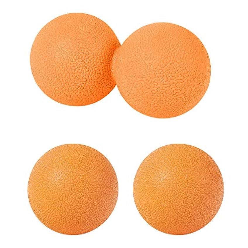 ショートカットだます密輸sac taske マッサージボール ストレッチ ピーナッツ ツボ押し トリガーポイント 3個セット (オレンジ)
