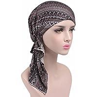 MaxNova Womens Head Scarf Pre Tied Chemo Hat Beanie Sleep Turban Headwear for Cancer