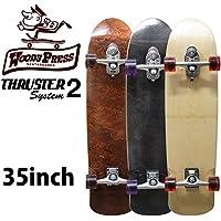 サーフスケート スケートボード コンプリート WOODY PRESS 35インチ ウッディープレス スラスターシステム2