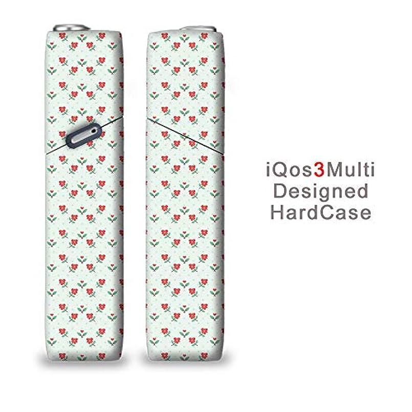 完全国内受注生産 iQOS3マルチ用 アイコス3マルチ用 熱転写全面印刷 かわいいハート柄 加熱式タバコ 電子タバコ 禁煙サポート アクセサリー プラスティックケース ハードケース 日本製