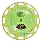 Amazon.co.jpYunt 猫 おもちゃ 猫用品 餌入れ 道具 ボール 遊べる食器 本能を刺激 エサ 知育玩具 早や食いを防止 運動 不足 ストレス 解消 遊ぶ盤