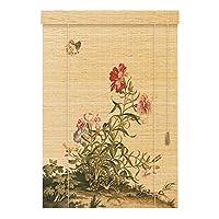 竹のローマンシェードナチュラル織りウッドプライバシーウィンドウブラインド (Color : A, Size : 50x100cm)