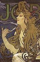 アルフォンス・ミュシャによって仕事ポスター Job Poster by Alphonse Mucha Painting silk fabric poster シルクファブリックポスター 50cm x 33cm