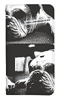 スマホケース 手帳型 mr02 ケース 8005-E. モノトーンドッグ mr02 ケース 手帳 [ARROWS MR02] アローズ エムアールゼロニ ベルトなし